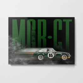 MGB GT Competition Metal Print