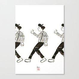 Talkless Man Canvas Print