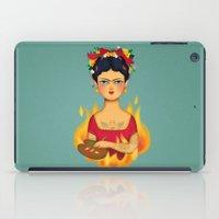 frida iPad Cases featuring Frida by La Perera