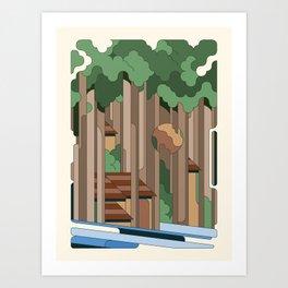 Cabane sous bois Art Print