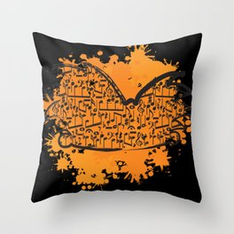 Musical Football Head Throw Pillow