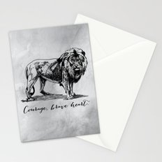 Courage, brave heart - Aslan - Chronicles of Narnia Stationery Cards