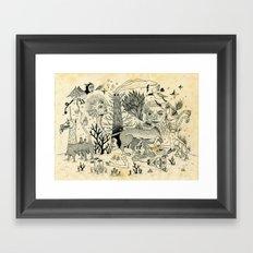 Grotesque Flora and Fauna Framed Art Print