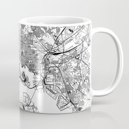 Baltimore White Map Coffee Mug