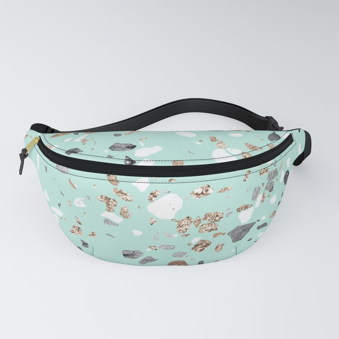 Glitter and Grit Marble Mint Green Fanny Pack