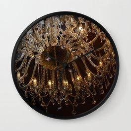 Glass Chandelier Wall Clock