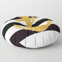 Gold Anchor Floor Pillow