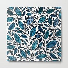 Floral Illustration - Leaf - No*47 Metal Print