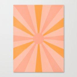 pink and orange sunshine Canvas Print