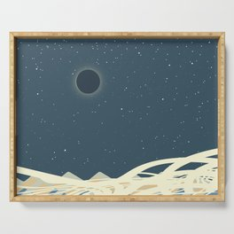 Total Solar Eclipse Art Serving Tray