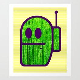 Grubbo On Bamboo Patrol. Art Print