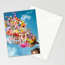 Tunes in Bloom Stationery Cards