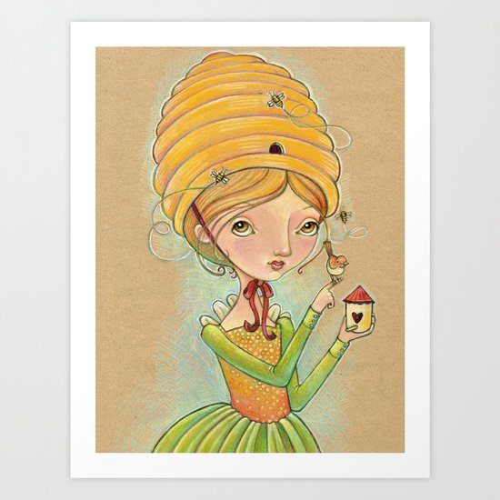 The Only Bee in My Bonnet Art Print