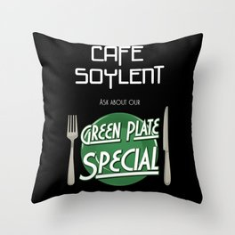 Soylent Cafe's Green Plate Special Throw Pillow