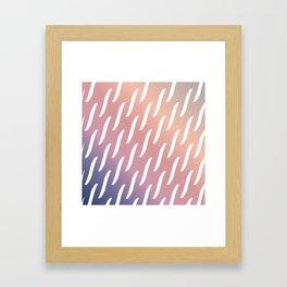 Pastel Pink and purple twist pattern Framed Art Print