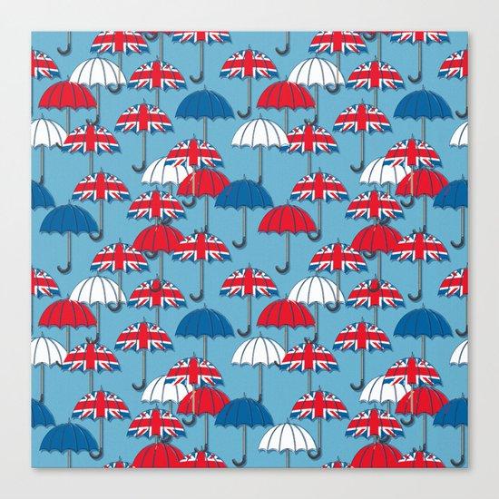 UK Umbrellas Canvas Print
