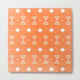 Geo Triangle Orange 3 Metal Print
