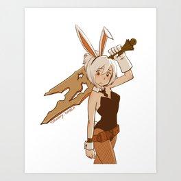 Bunny Riven Art Print