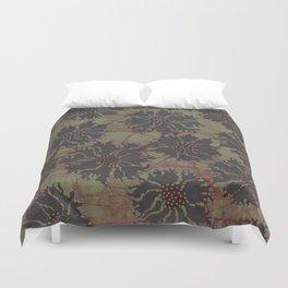 Batik Poppies Duvet Cover