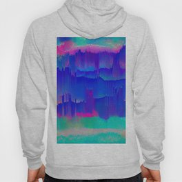 Bold Blue Turquoise and  pink abstract Hoody