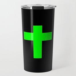 Christian Cross 11- green Travel Mug