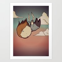 skyfall Art Prints featuring SkyFall by Bright Raven Designs