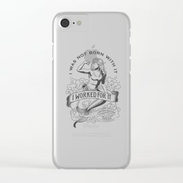 Gym mermaid Clear iPhone Case
