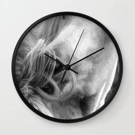 Horse Grooming Design Wall Clock