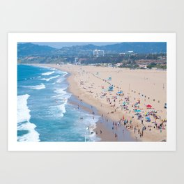 Santa Monica Beach I Art Print