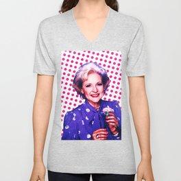 Betty White - Pop Art Unisex V-Neck
