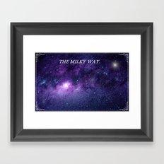 The Milky Way. Framed Art Print