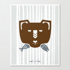 The Fish & Mr. Bear Canvas Print