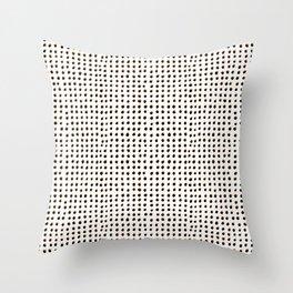 Dots (Shadowed) - Black x Citrus Throw Pillow