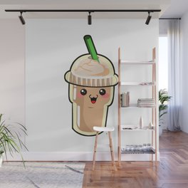 Coffee Kawaii Wall Mural