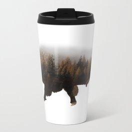 Forest Bison Metal Travel Mug