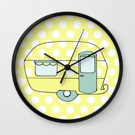 Polka Dot Caravan V4 Wall Clock
