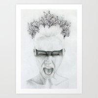 scream Art Prints featuring SCREAM by JW Lee