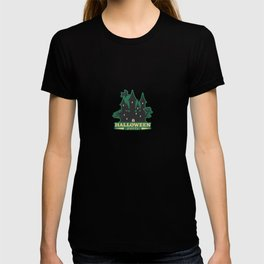 halloween party witch house T-shirt
