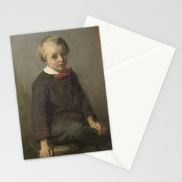 Portret of a boy - August Allebé (1856) Stationery Cards