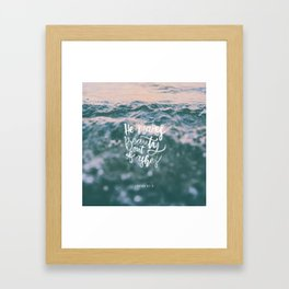 He makes beauty Framed Art Print