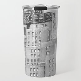 New Yorker Sign - NYC Black and White Travel Mug
