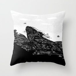 Namazu Japanese Cat Fish Throw Pillow
