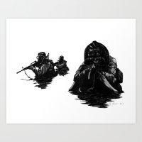 Combat Diver Art Print