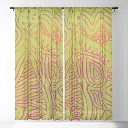green dream Sheer Curtain