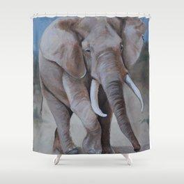 Ellie the Elephant Shower Curtain