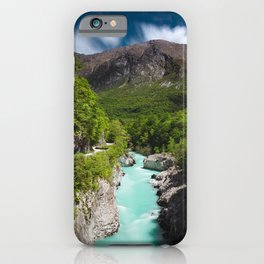 Spring at river Soca from Napoleon bridge iPhone Case