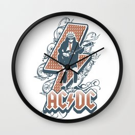 acdc angus young Wall Clock