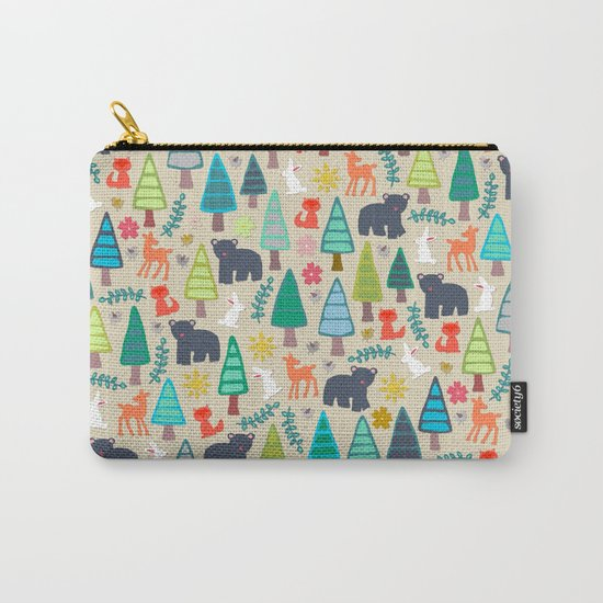 summer woodland Carry-All Pouch