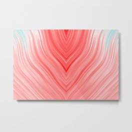 stripes wave pattern 3 2si Metal Print
