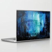 northern lights Laptop & iPad Skins featuring Northern Lights by VivianLohArts